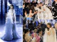 Amitabh, Jaya and Abhishek Bachchan cheer loud and get emotional as Shweta Bachchan walks the ramp for Abu Jani and Sandeep Khosla