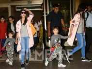 Cuteness overload! Alia Bhatt and AbRam Khan hold hands at the airport
