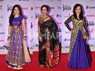 Kishori Shahane, Deepali Sayyad, Mukta Barve and Mansi Naik go ethnic at the Karrm Filmfare Awards (Marathi)