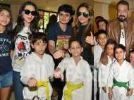 Sanjay Dutt, Karisma Kapoor and Amrita Arora's kids get their taekwondo belts