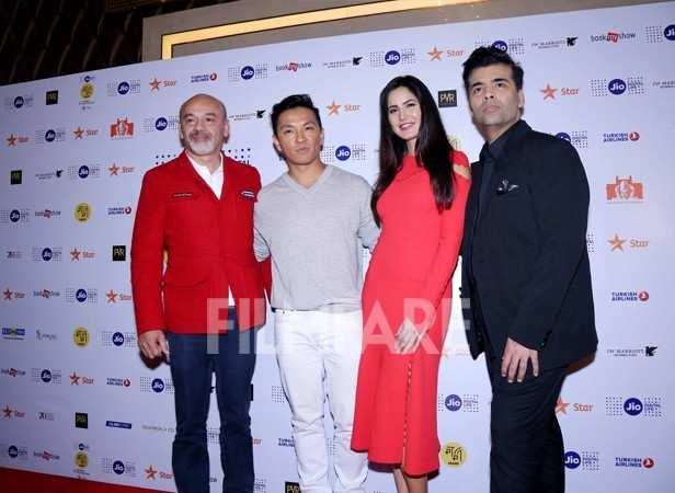 Christian Louboutin, Prabal Gurung, Katrina Kaif and Karan Johar