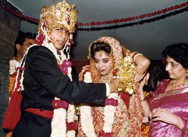 Image result for shahrukh gauri candid