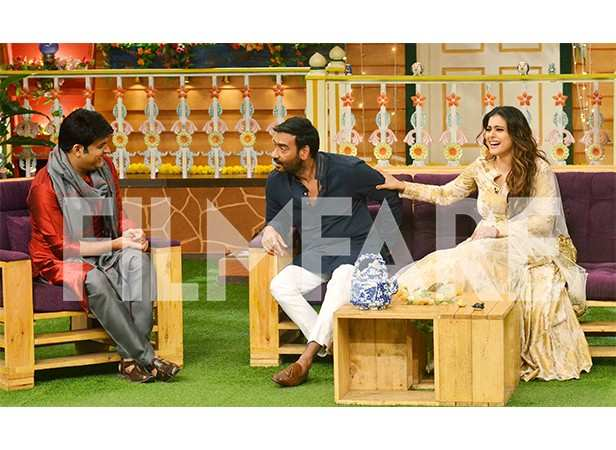 Ajay Devgn and Kajol promote Shivaay on The Kapil Sharma Show