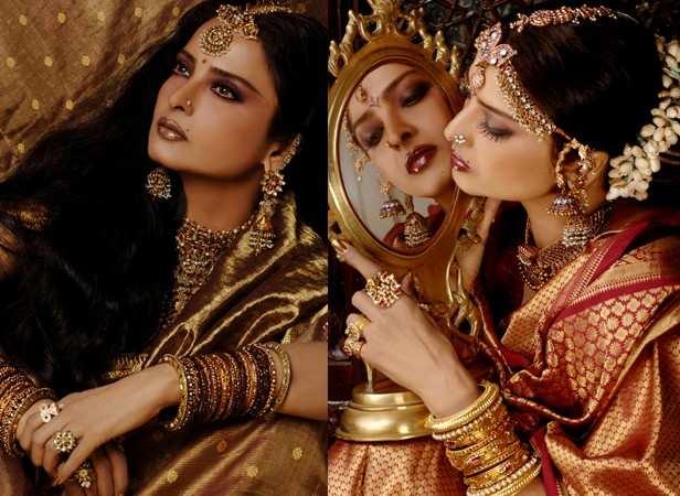 Rekha Latest News Photos Reviews: Rekha's Hottest Filmfare Photoshoots