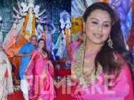 Rani Mukerji glows in her traditional avatar during Durga Pujo