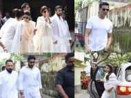 Akshay Kumar, Abhishek Bachchan, Salim Khan, Raveena Tandon, Harman Baweja spotted at Surendra Shetty's funeral