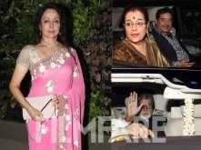 Amitabh Bachchan, Jaya Bachchan, Shatrughan Sinha, Poonam Sinha attend Hema Malini's birthday party