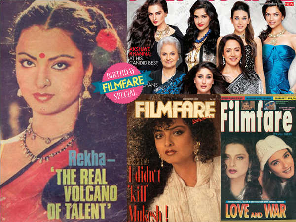 Rekha Filmfare covers
