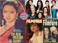 Rekha's journey through Filmfare covers