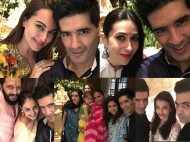 Aishwarya Rai Bachchan, Sonakshi Sinha, Karisma Kapoor and Karan Johar join Manish Malhotra for Ganpati celebrations