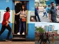 Arjun Kapoor and Shraddha Kapoor shoot for Half Girlfriend at a railway station