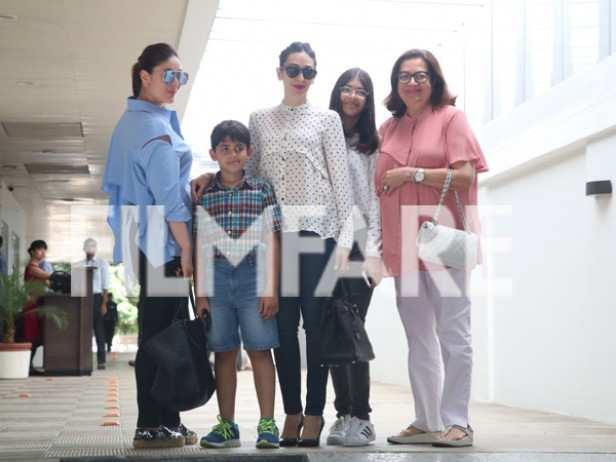 kareena kapoor khan, Kiaan Raj Kapoor, Karisma Kapoor, Samiera Kapoor and Babita Kapoor