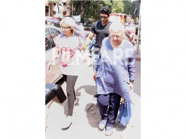 Farhan Akhtar, Honey Irani and Shakya Akhtar
