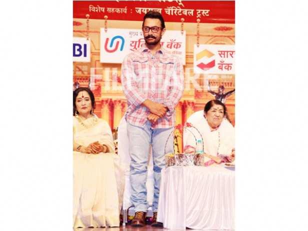 Vyjayanthimala, Aamir Khan and Lata Mangeshkar