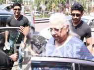 Farhan Akhtar spotted with mother Honey Irani and his daughters Shakya and Akira