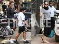 Karisma Kapoor and Raveena Tandon snapped by the paps