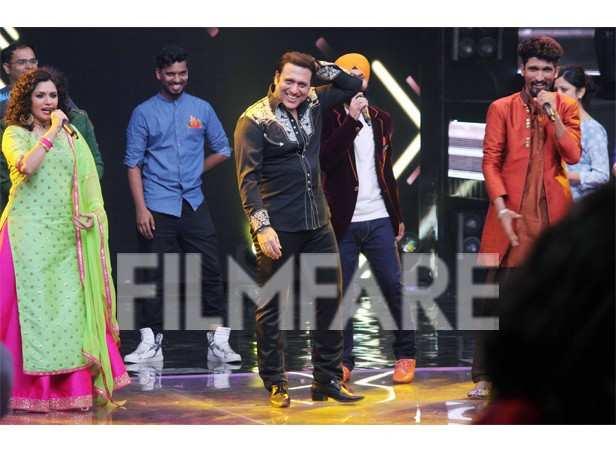 Govinda shows his killer dance moves on Indian Idol   filmfare com