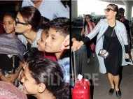Jacqueline Fernandez amuses the paparazzi at the airport