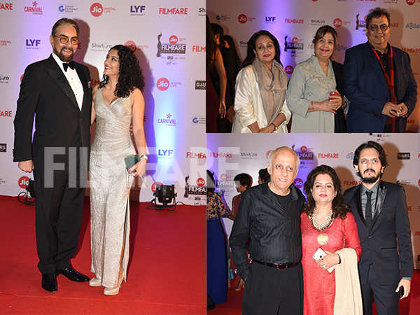 Kabir Bedi, Mukesh Bhatt, Subhash Ghai arrive with their families at the 62nd Jio Filmfare Awards
