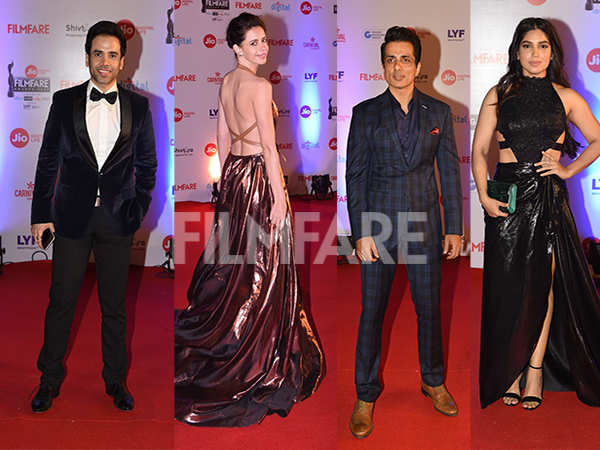 Kalki Koechlin, Sonu Sood, Tusshar Kapoor, Bhumi Pednekar look lovely at the Jio Filmfare Awards red carpet
