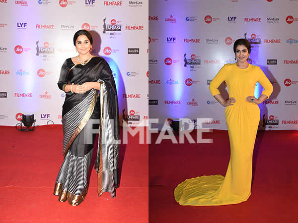 Vidya Balan and Raveena Tandon look beautiful at the Jio Filmfare Awards