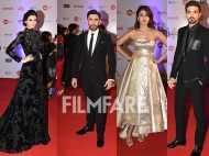 Diana Penty, Saqib Saleem, Rhea Chakraborty and Amit Sadh arrive at the Jio Filmfare Awards