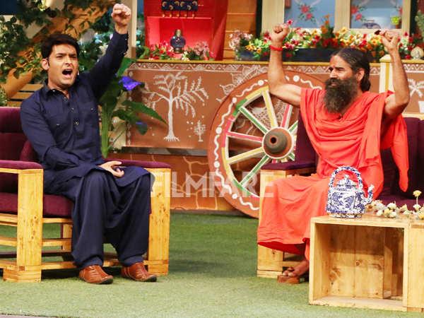 Baba Ramdev and Peshwa Bajirao cast have fun at The Kapil Sharma