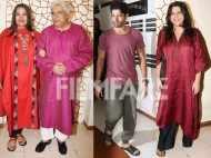 Shabana Azmi, Zoya Akhtar and Farhan Akhtar are all smiles at Javed Akhtar's birthday celebrations
