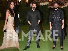 Katrina Kaif, Aditya Roy Kapur and Shahid Kapoor deck up in ethnic wear for Ronnie Screwvala's daughter's reception
