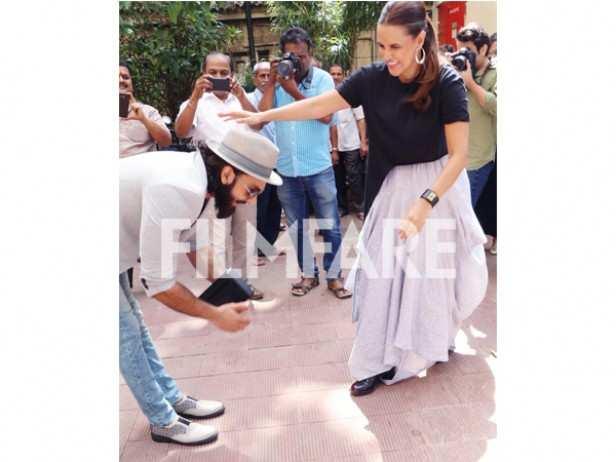 Ranveer Singh and Neha Dhupia
