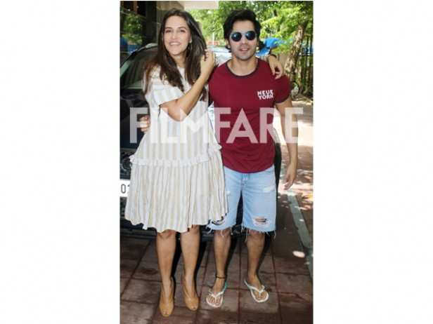 Neha Dhupia and Varun Dhawan