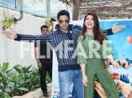 Sidharth Malhora and Jacqueline Fernandez have fun while promoting A Gentleman