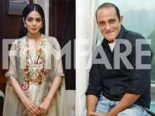 Sridevi and Akshaye Khanna promote Mom in Delhi