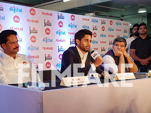 Naga Chaitanya graces the Jio Filmfare Awards (South) press conference