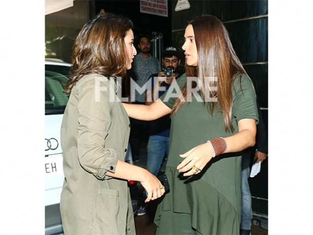 Parineeti Chopra and Neha Dhupia