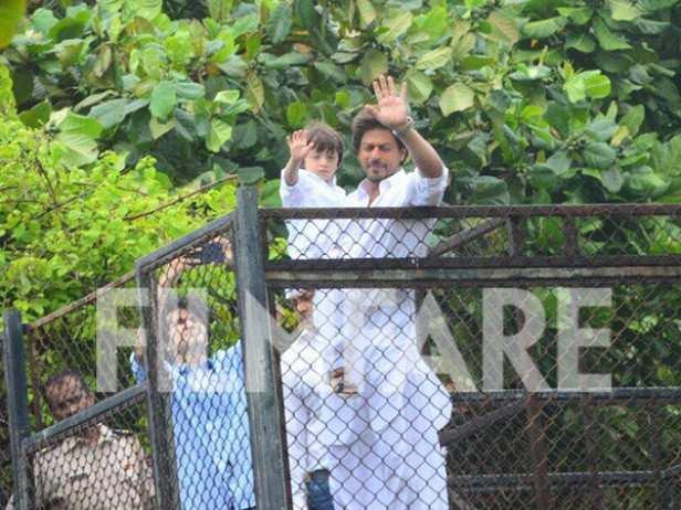 Shah Rukh Khan and AbRam Khan