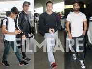Arbaaz Khan, Sohail Khan and Suniel Shetty snapped at the airport