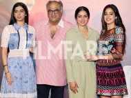 Sridevi, Jhanvi Kapoor, Boney Kapoor and Khushi Kapoor launch Mom's trailer