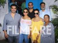 Malaika Arora, Arbaaz Khan and Amrita Arora have a family get together