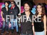 Tiger Shroff, Nidhhi Agerwal and Jackie Shroff celebrate the completion of Munna Michael