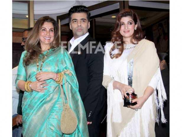 Dimple Kapadia, Karan Johar and Twinkle Khanna