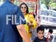 Kajol and her son Yug spend some mother-son time
