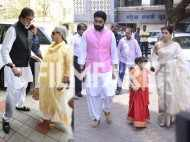 Amitabh Bachchan, Abhishek Bachchan and Abhishek Bachchan attend Aishwarya Rai Bachchan's father's 13th day ritual