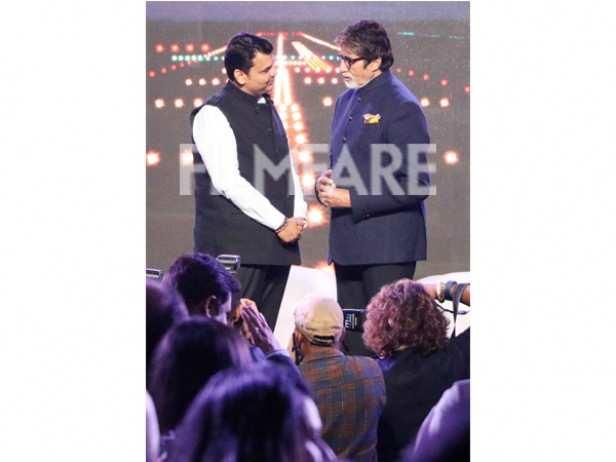 Devendra Fadnavis and Amitabh Bachchan