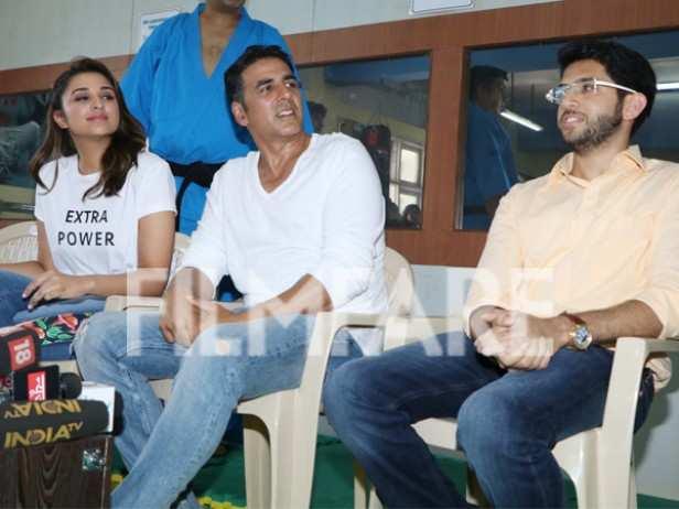 Parineeti Chopra, Akshay Kumar and Aditya Thackeray