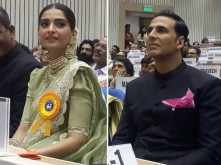 Pictures! Akshay Kumar and Sonam Kapoor receive their National Awards