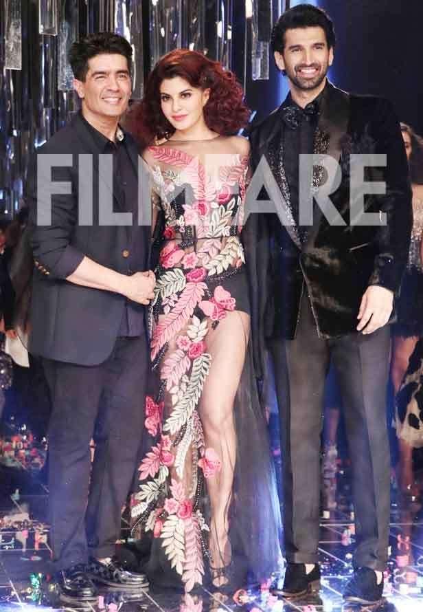Manish Malhotra, Jacqueline Fernandez and Aditya Roy Kapur