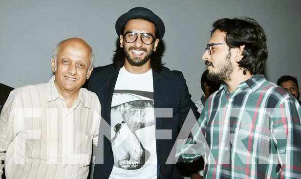 Ranveer Singh and Mukesh Bhatt