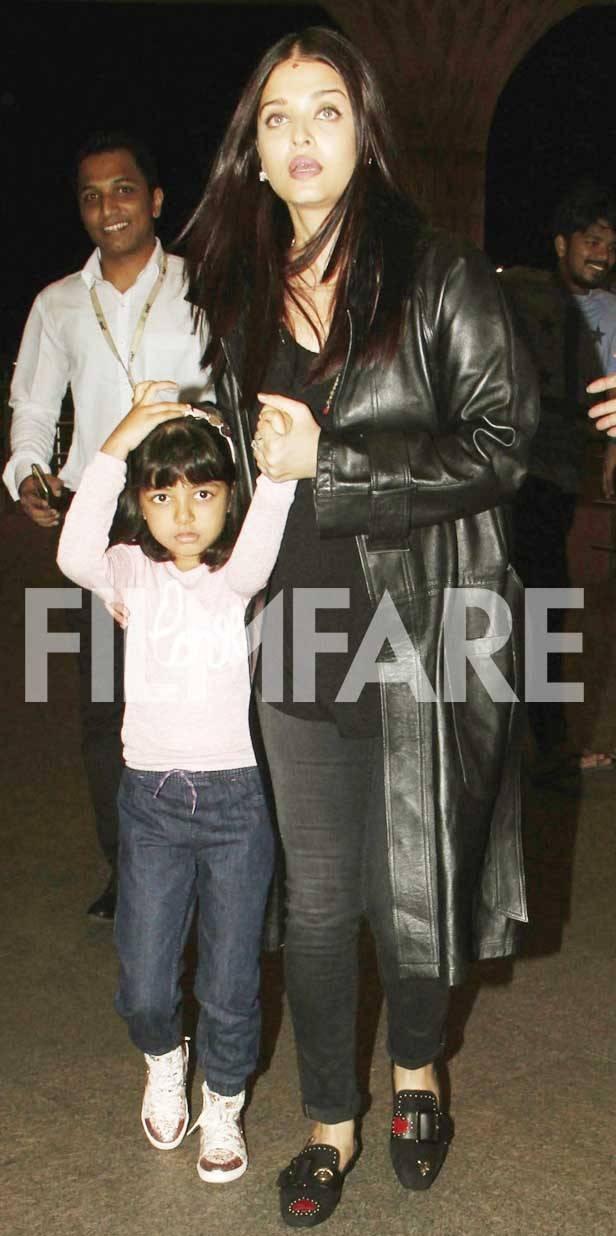 Aaradhya Bachchan and Aishwarya Rai Bachchan