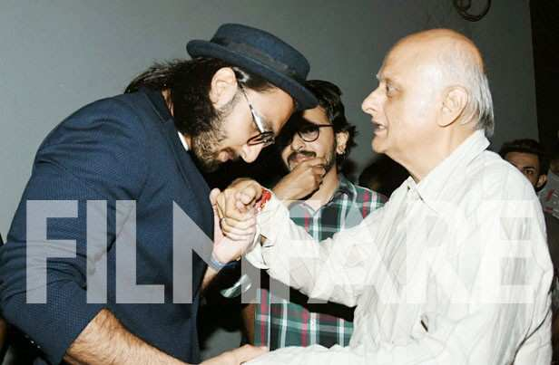 Mukesh Bhatt, Ranveer Singh and Vishesh Bhatt